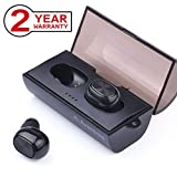 Avantree BTHS-TWS320-BLK New Mini True Wireless Earbuds with Portable Charging Case