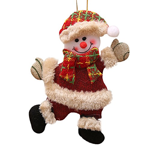 Christmas Ornaments Gift Santa Claus Snowman Reindeer Toy Doll Hang Decorations, Home Decor, Product for Home (Multicolor)