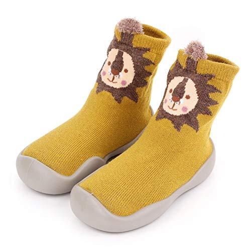 Seii Niños Niños Pequeños Animal Suela De Goma Antideslizante Zapatilla De Piso Interior Bebé Niño Niñas Algodón Transpirable Zapatos Al Aire Libre Calcetines Elegance