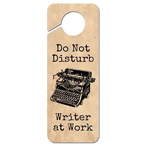 Graphics and More Do Not Disturb Writer at Work Plastic Door Knob Hanger Sign