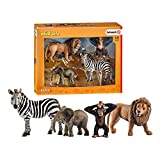 Schleich- Wild Life Set de Figuras, Safari, Multicolor (42387)