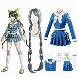 tggh Anime Danganronpa Killing Chabashira Tenko Cosplay Disfraces Mujer Azul Vestido Escuela Traje Marinero (Color: A1, Talla M: M)