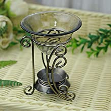 CellCase Bronze Vintage Metal Tea Light Tealight Candle Holder Wax Warmer Aromatherapy Essential Oil Burner (Style 1)