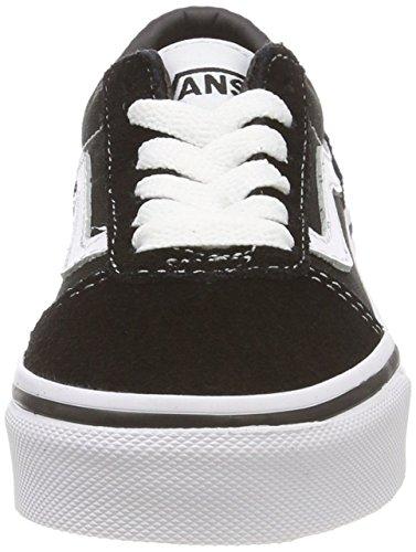 Vans Ward Suede/Canvas, Zapatillas Unisex niños, Black/White Iju, 38 EU