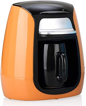 DQMBJ Coffee Machine Fully Automatic Portable Coffee Machine Hourglass Mini Single Cup Coffee Pot Tea Making Machine (Color : Orange)
