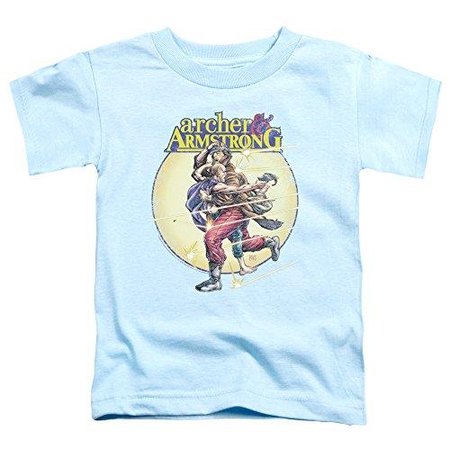 Archer & Armstrong - - Les tout-petits Vintage A & A T-shirt, 4T, Light Blue