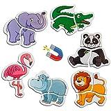 MAGDUM 6 Animales Zoo magnética bebé Puzzles para niños-imanes de Nevera Grandes-Juguetes educativos para niños de 3 años-imanes magnéticos para Aprender y desarrollar-Teatro Magnético