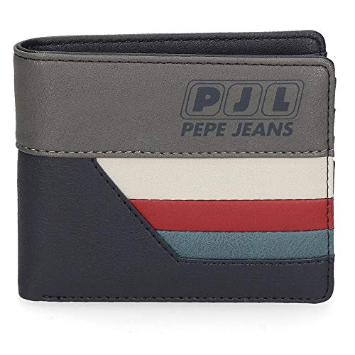 Pepe Jeans Eighties Cartera Azul 10,5x9x2 cms Piel...