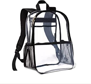 """Clear View Backpack With Black Piping - Embark - 16"""""""