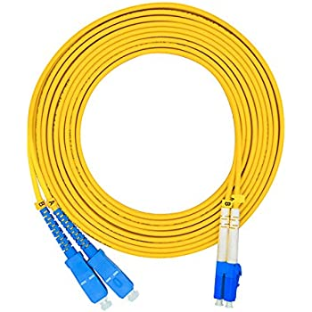ipolex 3m 10ft - 9//125 OS2 LC to SC Fiber Optic Patch Cable Single Mode Duplex