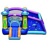 DREAMADE Casa Gonfiabile per Bambini, Castello Gonfiabile con Scivolo, Dotato Borsa da Trasporto, 331 x 258x 178 cm
