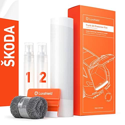 Luxshield Ladekantenschutz Folie Komplettset - Octavia Combi 3 (III) 5E I 2012-2020 - Stoßstangenschutz, Kratzschutz, Lackschutzfolie - Transparent glänzend Selbstklebend