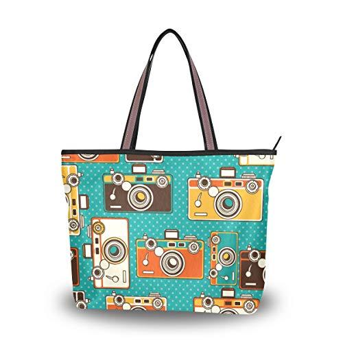 My Daily Bolso de hombro para mujer, estilo vintage para cámaras de fotos, Multi (Multicolor), Medium