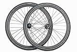 700c Disc Brake Rim Brake Road Touring Bike Wheel Set 7 Speed Only 700 x 38 Kwick Cosmos Tires and Tubes