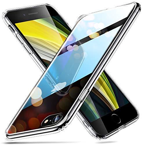 ESR iPhone SEケース 第2世代 iPhone8ケース iPhone7ケース 2020 新型 クリアケース 黄変防止 指紋防止 カメラ保護 硬度9H背面 & 柔軟なTPUバンパーフレーム 耐スクラッチ Qi充電 衝撃吸収保護ケース クリア