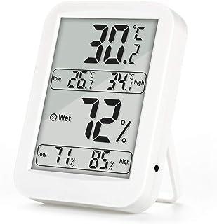 YIN YIN, higrómetro Temperatura, Pantalla Grande termómetro Digital electrónico con higrómetro función de Memoria seco, 87...