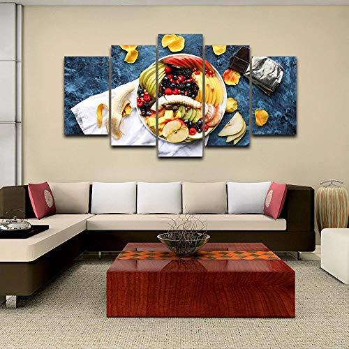 Muurkunst Voor Woonkamer Afdrukken Op Canvas Afbeeldingen In Hd Gedrukt Frameloze Fruitschaal Abstract Schilderij Thuis Wanddecoratie Canvas Olieverfschilderij