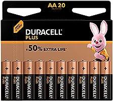 Duracell Plus Mono Alkaline Batterijen LR20, Grootte AA 20 Stuk