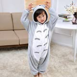 ALBRIGHT Kinder Overall Cosplay Cartoon Kostüm Totoro, Tier Onesie Nachthemd Schlafanzug Kapuzenpullover Nachtwäsche für Weihnachten Halloween Karnival Party 130(120-130cm)