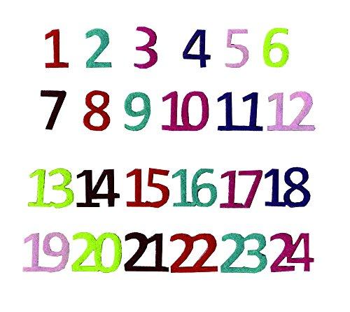 Artemio - Numeri in Feltro per Calendario dell'avvento
