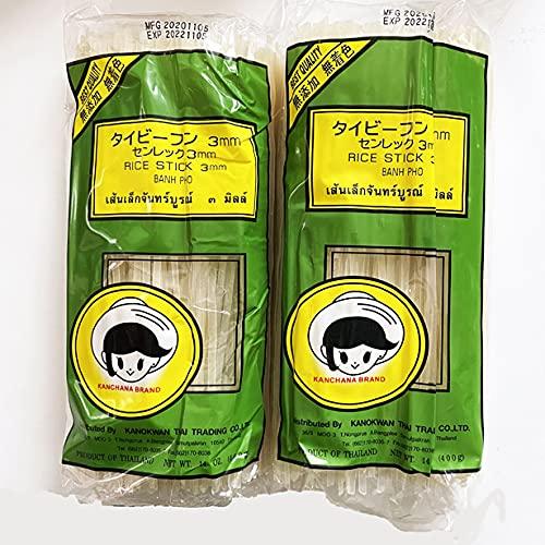 ●ビーフン ストレート3�o 2袋×400g 米粉麺 (原材料 うるち米)ビーフンもフォーも主原料は米のライスヌードル タイ産