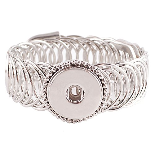 My Prime Gifts Interchangeable Snap Jewelry Wrap Bracelet Adjustable to Any Size Holds one 18-20mm snap