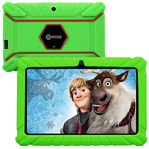 Contixo V8-2 7 inch Kids Tablets - Tablet for Kids with Parental Control - Android Tablet 16 GB HD Display Durable Case & Screen Protector WiFi Camera-Learning Toys for 2 to 10 Years Old, Green