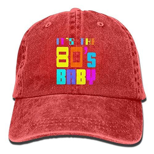 Rundafuwu Gorras de béisbol/Hat Trucker Cap It's The 80S Baby Vintage Washed Dyed Twill Low Profile Adjustable Cotton Baseball Caps