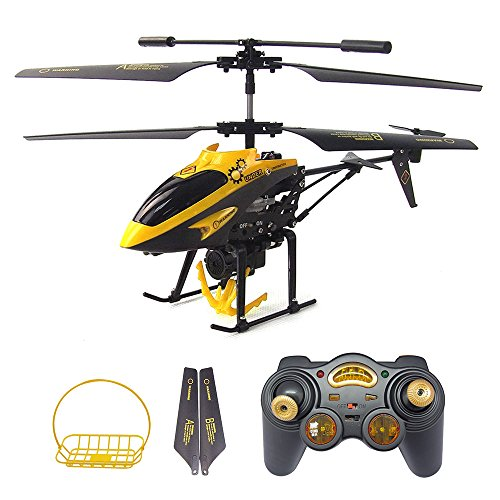 Gizmovine WLtoys V388 Transport Carrier RC Helicopter with Basket 3.5CH Infrared with Gyro with Hook, Basket RTF by Velocity Toys