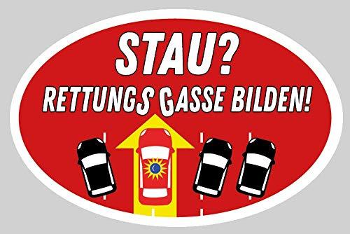 """humorpharm """"Rettungsgasse bilden!"""" Etikett für Auto Heckscheibe"""