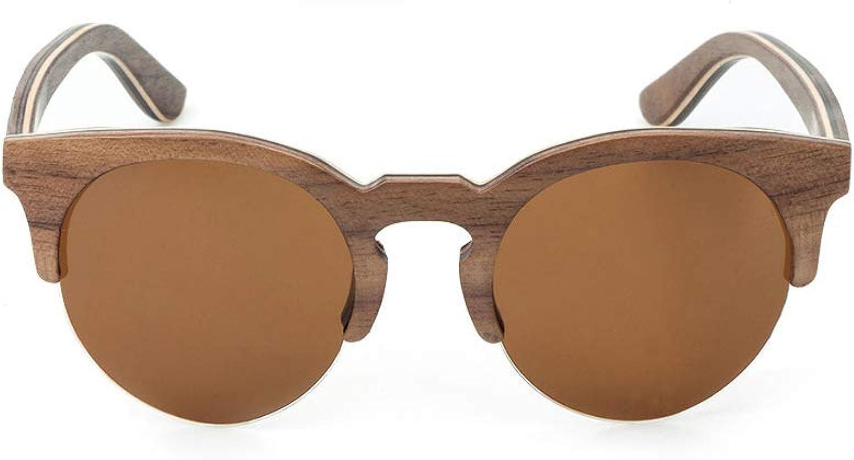 Sunglasses for Man Women Bamboo Frame HD Polarized Sunglasses UV 400 Predection Ultra-Light Sunglasses Unisex