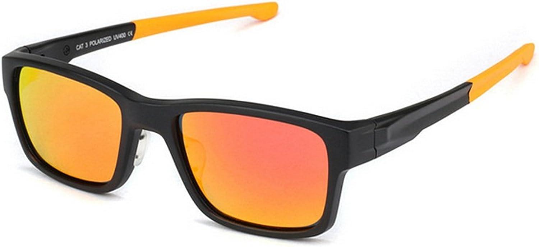 KTYX Men's Polarized Sunglasses Drive Outdoor Visor Sunglasses Sunglasses (color   RED)