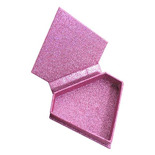 Toygogo Porte-boîte De Rangement Avec Fausse Cils Vides De Diamants Roses