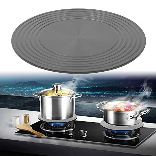 FYINTON Heat Diffuser For Gas Stovetop,Cookware Accessories,9.4inch Stove Diffuser for Pot Protection,Round Fast Defrosting Tray,Multifunctional Thawing Plate for Defrosting of Frozen Food