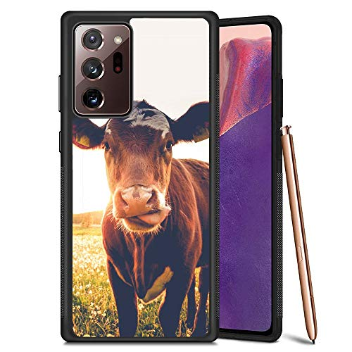 Compatible with Samsung Galaxy Note 20 Ultra 5G Case for Women Men Black Soft TPU & Hard PC Anti-Scratch Shockproof Protective Cover Case for Samsung Galaxy Note 20 Ultra 5G - Cow