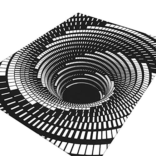Zerbino con Illusione di Vortice Home Decor 3D Sewer Bolohole Cover Horror Home Tappeto Pagliaccio Trappola Visual Tappeto Visual Soggiorno Camera Da Letto Piano Tappetino da terra Decorazione di Hall