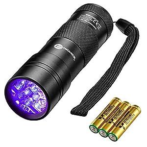 TaoTronics Black Light, 12 LEDs 395nm UV Blacklight Flashlights Detector for Pets Urine and...