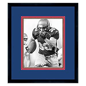 Buffalo Bills Black Wood Frame for a 8x10 Photo with a Triple Mat - Royal Blue, Red, and Football Textured Mats