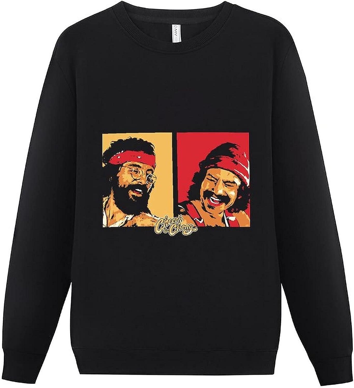 ZHENJBNAN Cheech-and-Chong Cool Men's Long Sleeve Round Neck Pullover Sweater