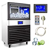 Commercial Ice Maker Machine, Ice Maker Machine Ideal for Home,Office,Restaurant,Bar,Coffee Shop. (151lbs)