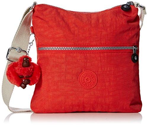 Kipling Damen Zamor Schultertaschen, Rot (Coral Rose Combo 05W)