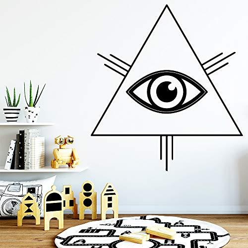 Preisvergleich Produktbild yiyiyaya Cartoon Stil Trangle Eye Wandaufkleber Vinyl Kunst Dekoration Für Wohnzimmer Schlafzimmer Haus Party Decor Tapete L 42 cm X 46 cm