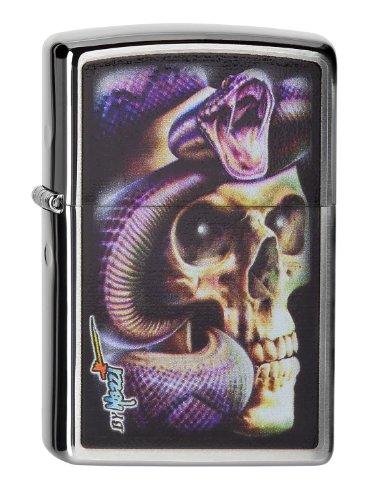 Zippo 2004229 - Accendino 200, Motivo: Mazzi, Skull Snake