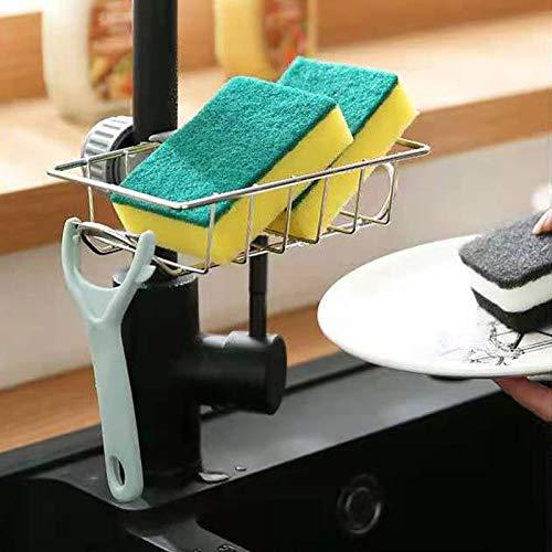 Artchros 2er Pack Küchenspüle Pülbecken Organizer für die Küche Caddy Ordnungshelfer Küchen Schwammhalter