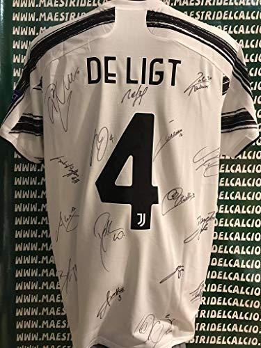 """MAESTRI DEL CALCIO Maglia Gara Home Champions League """"De ligt 4"""" Autografata 2020/2021 Firmata Firme Giocatori"""