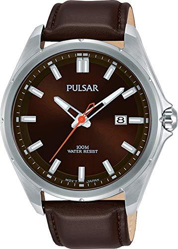Pulsar Herren Analog Klassisch Quarz Uhr mit Edelstahl Armband PS9555X1