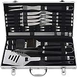 grilljoy 29pcs barbecue outils - accessoires grillade résistants de d'acier inoxydable avec le cas de stockage - kit pour barbecue de voyage/camping pour les hommes père