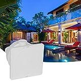 Kuuleyn Caja de Conexiones subacuática, G3 / 4in DN20 Caja de Conexiones Impermeable Caja de distribución de luz subacuática Accesorios de Piscina para Hotel en casa