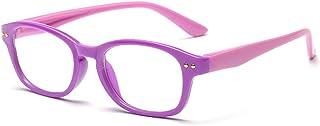 Fantia Kids Eyeglass Frame Children Soft Silicone Blue Light Blocking Lens Reading Glasses