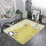 QWEASDZX Estera de Dibujos Animados Estera Decorativa Estera de Yoga Estera de Picnic Alfombra de Escalada Infantil Adecuado para Interiores y Exteriores 150 x 200 cm